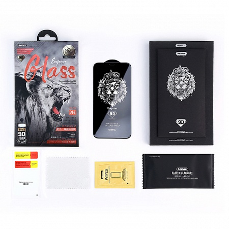 "Стекло защитное Remax 9D GL-32 Emperor Series для iPhone XS (5.8"") 0.3mm Black"